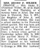 Obituary of Annie E. Wilber - Part 1