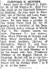 Obituary of Clifford E. Hunter