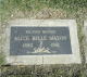 Grave Marker of Alice Belle Mason